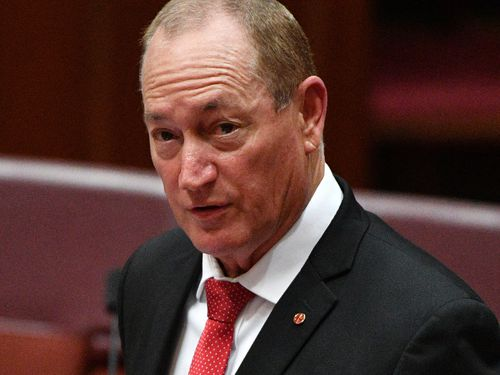 """""""While all Muslims are not terrorists, all terrorists these days are Muslims,"""" said Senator Fraser Anning."""