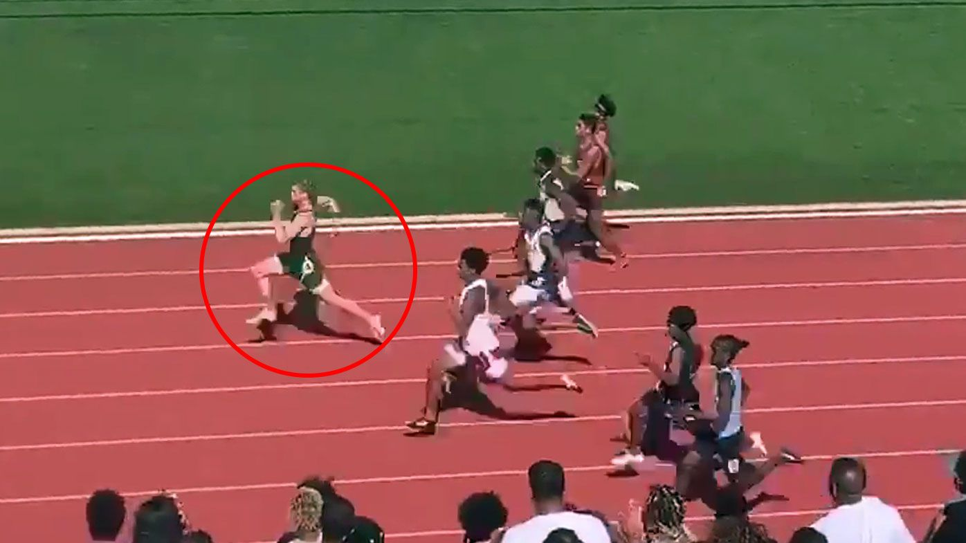 Teenager Matthew Boling shatters all-time high school 100m record with ridiculous time