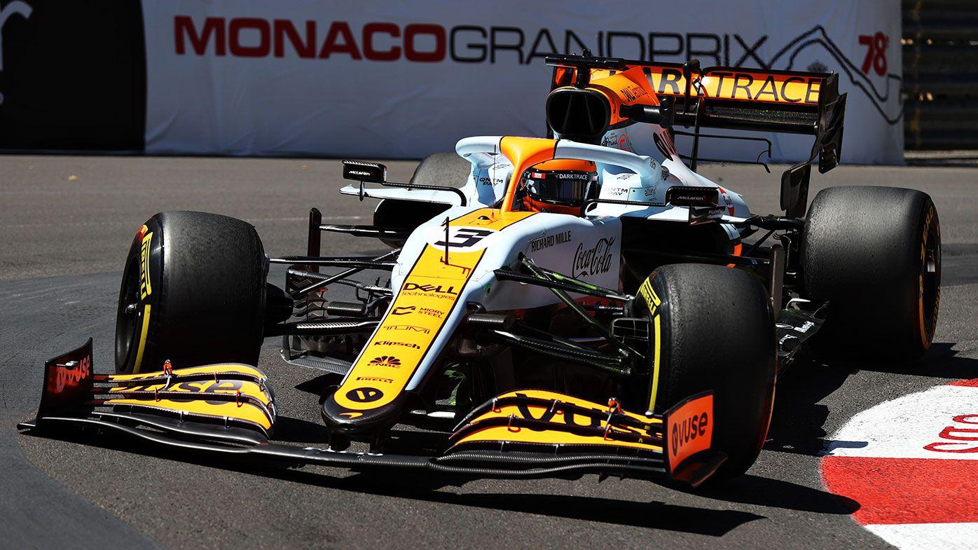 Daniel Ricciardo on the opening day of practice for the Monaco Grand Prix.