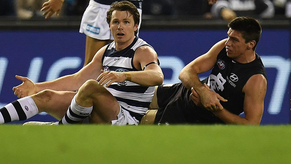 Brownlow medal hopes over as Geelong Cats' Patrick Dangerfield cops one-match suspension for rough conduct charge