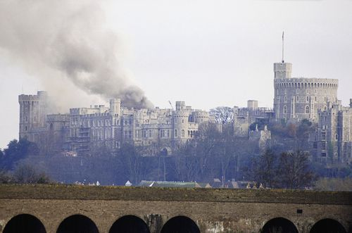 The 21 fire staff employed at the castle couldn't put the blaze out. Picture: Getty