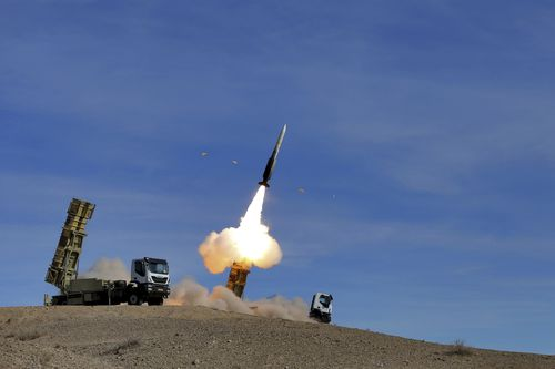 In response to the re-imposed sanctions, the Islamic Republic televised air defence drills.