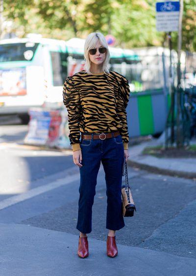 Linda Tol outside Ellery, Paris Fashion Week