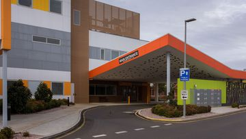 The North West Regional Hospital is seen closed in Burnie, Tasmania, Tuesday, April 14, 2020.