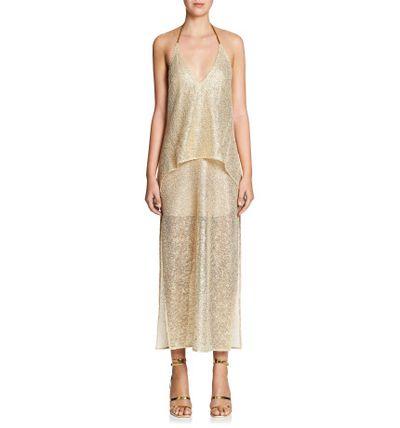 "Manning Cartell foil dress, $599 at <a href=""http://shop.davidjones.com.au/djs/ProductDisplay?urlRequestType=Base&amp;catalogId=10051&amp;categoryId=203553&amp;productId=13925028&amp;errorViewName=ProductDisplayErrorView&amp;urlLangId=-1&amp;langId=-1&amp;top_category=26551&amp;parent_category_rn=&amp;storeId=10051"" target=""_blank"">David Jones</a><br />"