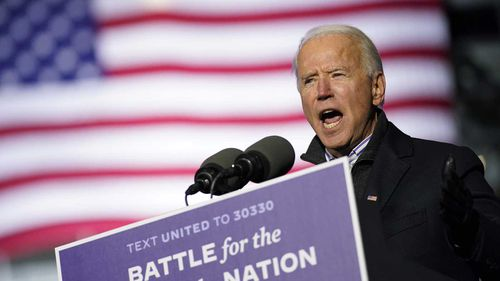 Joe Biden at a campaign event in Pittsburgh, Pennsylvania.