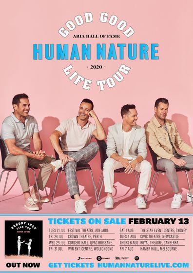 Human Nature, Australian Tour, 2020, dates, promo poster