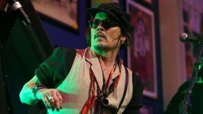 Johnny Depp performs