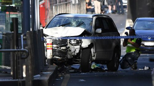 A car ploughed into pedestrians in Melbourne earlier this month.