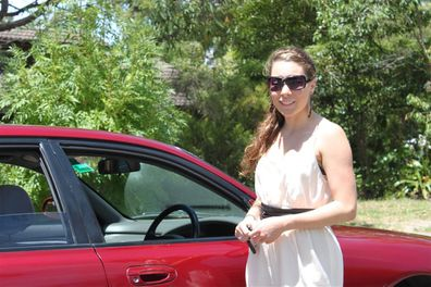 Sarah road safety with car