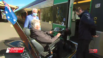 Disability pensioner unable to access train takes two-hour trip for groceries