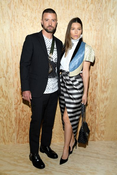 Justin Timberlake, Jessica Biel, Paris Fashion Week