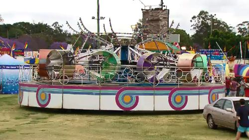 A carriage fell off the 'Rok N Roll' ride. (9NEWS)