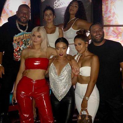 Kylie Jenner celebrating best friend Jordyn Wood's 21st birthday in Miami, October, 2018
