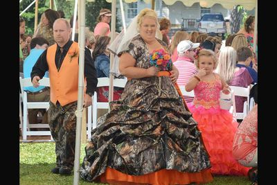 Case in point: Mama June and SugarBear's wedding on <i>Here Comes Honey Boo Boo</i>. White trash going camo = AMAZING!<br/><br/>Image: Splash