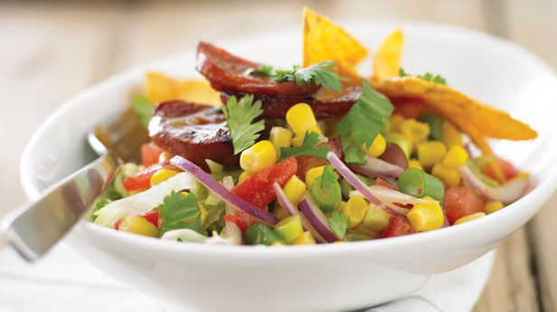 Corn and kidney bean salad