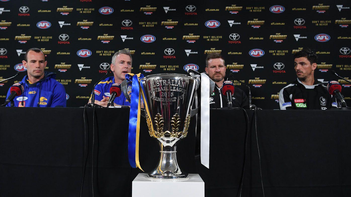 AFL Grand Final 2018: Collingwood vs West Coast full schedule
