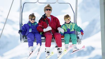 Prince William and Prince Harry hit the slopes, 1991