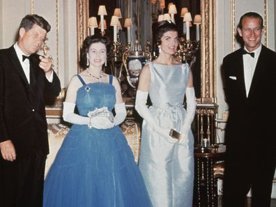 Queen Elizabeth with JFK and Jackie Kennedy