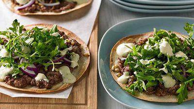 "Recipe: <a href=""http://kitchen.nine.com.au/2016/05/05/11/05/lamb-kofta-pizza"" target=""_top"">Lamb kofta pizza</a>"