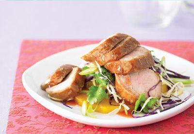Barbecue pork and pineapple salad