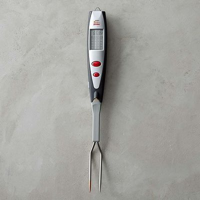 "Barbecue Fork Thermometer, $40, <a href=""http://www.williams-sonoma.com.au/williams-sonoma-barbecue-fork-thermometer"" target=""_blank"">Williams-Sonoma</a>"