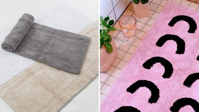 Bathmats from Pillow Talk and The Block Shop