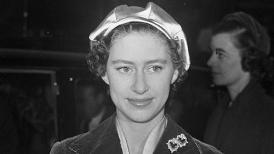 Princess Margaret at the Highland Home Exhibition in London, November 1954