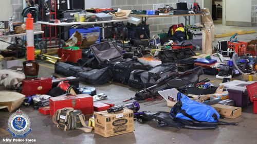 Police allege the space was being used to store stolen goods.