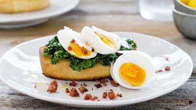"Recipe: <a href=""http://kitchen.nine.com.au/2016/05/05/09/56/soft-boiled-eggs-with-chorizo-sprinkle-on-ciabatta"" target=""_top"">Soft boiled eggs with chorizo sprinkle on ciabatta</a>"