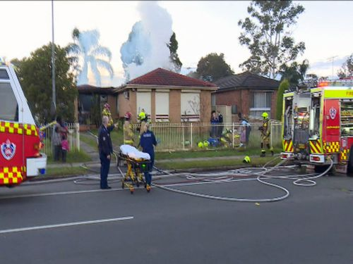 The family were not immediately alerted to the fire because alarms were not fitted correctly. Image: 9News