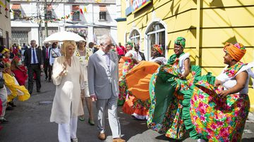 Prince Charles and Camilla make a splash in the Caribbean