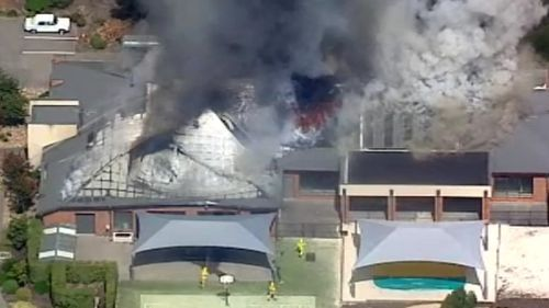 It's unknown what has caused the blaze. (9NEWS)