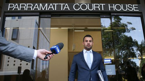Lawyer Osman Samin speaks to the media outside the Parramatta Local Court, Sydney. (AAP)