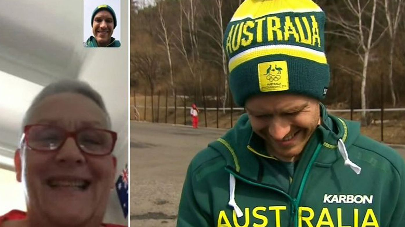 Aussie Olympian David Morris sees sick mum for the first time in months in emotional video call