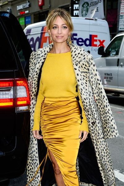 <p>Nicole Richie in a For Love and Lemons knit sweater and skirt by Lavish Alice, New York City September 2017</p> <p></p>
