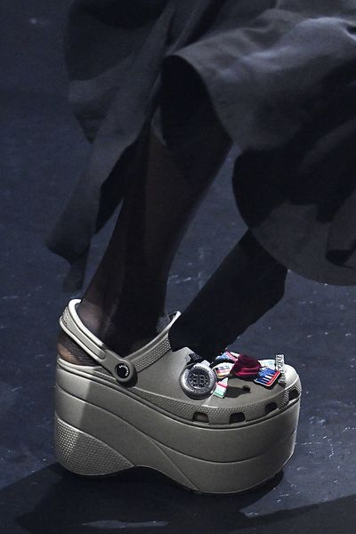 But you could try a sleek silver Croc if it took your fancy.