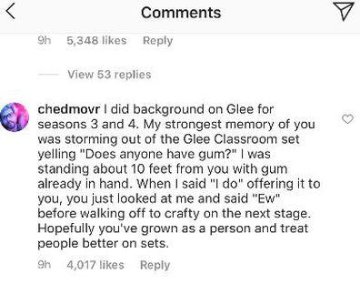 Lea Michele, Samantha Marie Ware, Glee, feud