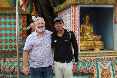 Dicko was enthralled by his guide Mr. Mooni's knowledge.