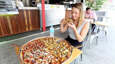 Mega Pizza at Slice Pizza and Pasta (Brisbane, QLD)