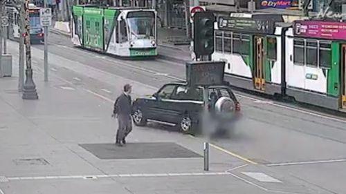 The car was allegedly stolen. (Herald Sun)