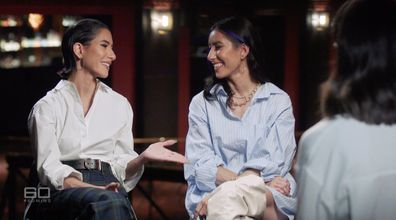 The sisters told Sarah Abo they have learned to laugh to help them survive in the public eye.