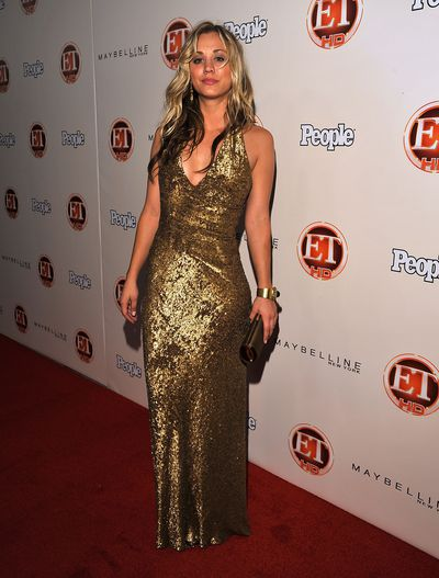 Kaley Cuoco arrives at the 13th Annual Entertainment Tonight and People Magazine Emmys After Party at the Vibiana on September 20, 2009