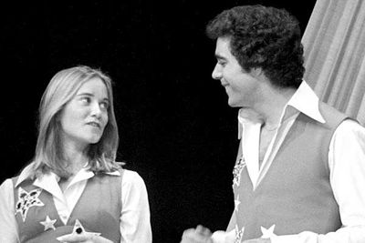 "<B>The couple:</B> Maureen McCormick, aka Marcia Brady, revealed in her autobiography <I>Here's the Story</I> that she'd pashed her onscreen stepbrother Barry Williams (Greg) <I>and</I> her TV sister Jan (Eve Plumb, who says McCormick just made up the ""lesbian fling"" rumour to sell books)."