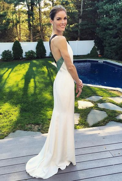 <strong>Who:</strong> Model Hilary Rhoda married former NHL player Sean Avery<br /><strong>Dress:</strong> Carolina Herrera<br /><strong>Where: </strong>Parrish Art Museum in upstate New York