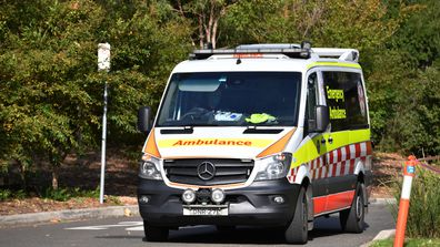 Ambulance leaves Newmarch House