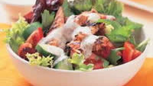 Tandoori Chicken Salad with Pappadums