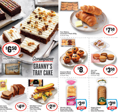 At your local IGA you'll find some delicious baked treats for a perfect afternoon tea this week.