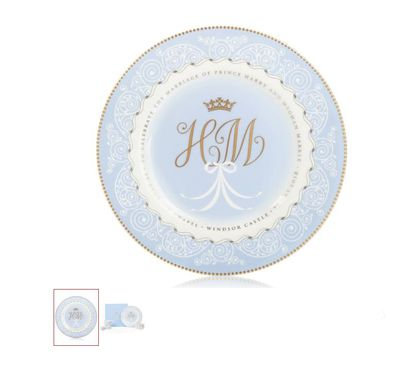 A plate celebrating Meghan and Harry's wedding RRP £39.00.