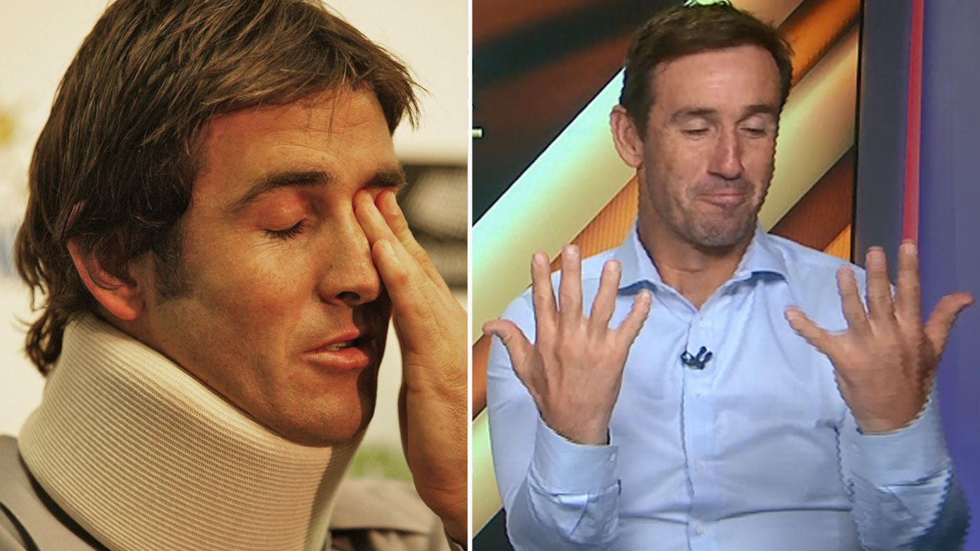 Andrew Johns speaks about the 2003 neck injury which caused him ongoing numbness